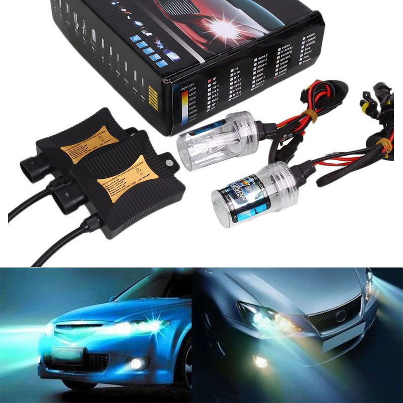 HID Xenon Headlight Bulb 12V 55W 8000K H7 Light Conversion 8000K Ballast Slim Kit Universal For Bmw E46 E39 Volkswagen Toyota