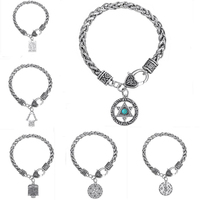 Jewish Jewelry Torah Scroll Hamsa Hand Star Of David Men S Bracelets For Men Snap Button
