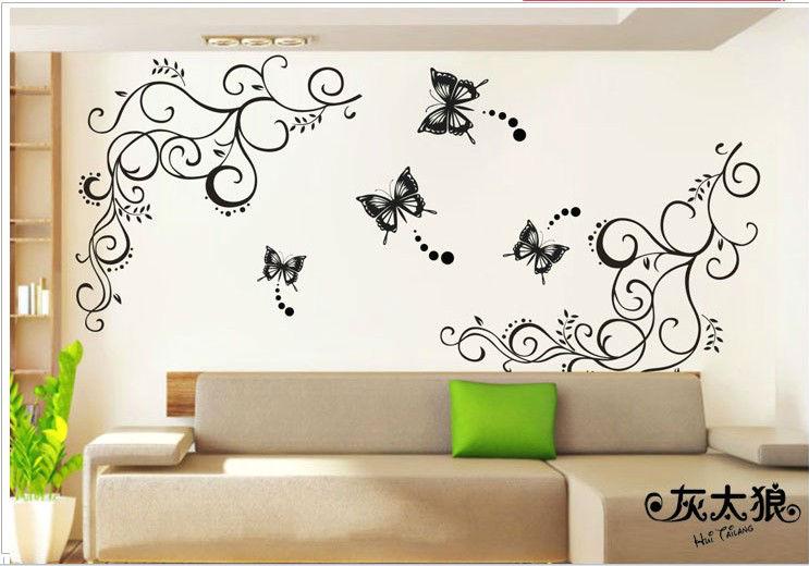 mariposa decoracin pegatinas grandes retro espejo del bao pared del cartel de papel diy vinilo etiquetas de la pared decoracin en pegatinas