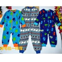 Onesies תינוק 100% כותנה סתיו וחורף ילדים של צבע כותנה עבה חם romper יילוד בגדים