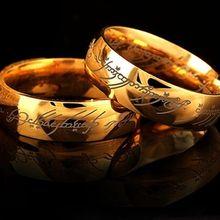 Кольцо Hobbit с надписью Midi из нержавеющей стали, мощное Золотое кольцо «Властелин Колец» для влюбленных женщин и мужчин, модное ювелирное изделие