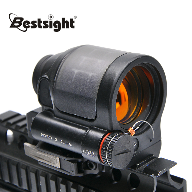 Trijicon SRS 1X38 Red Dot Sight Scope Tactical Hunting Scopes Reflex Sight Solar Power System With QD Mount Optics Rifle Scope aim o red dot tactical hunting sight scope srs reflex 1x38 iron optics riflescope for airgun ao3040