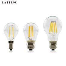 E27 Lamp A60 LED Filament 2W 4W 6W 8W G45 Retro Glass Edison 220V Bulb Replace Incandescent Light Chandeliers стоимость