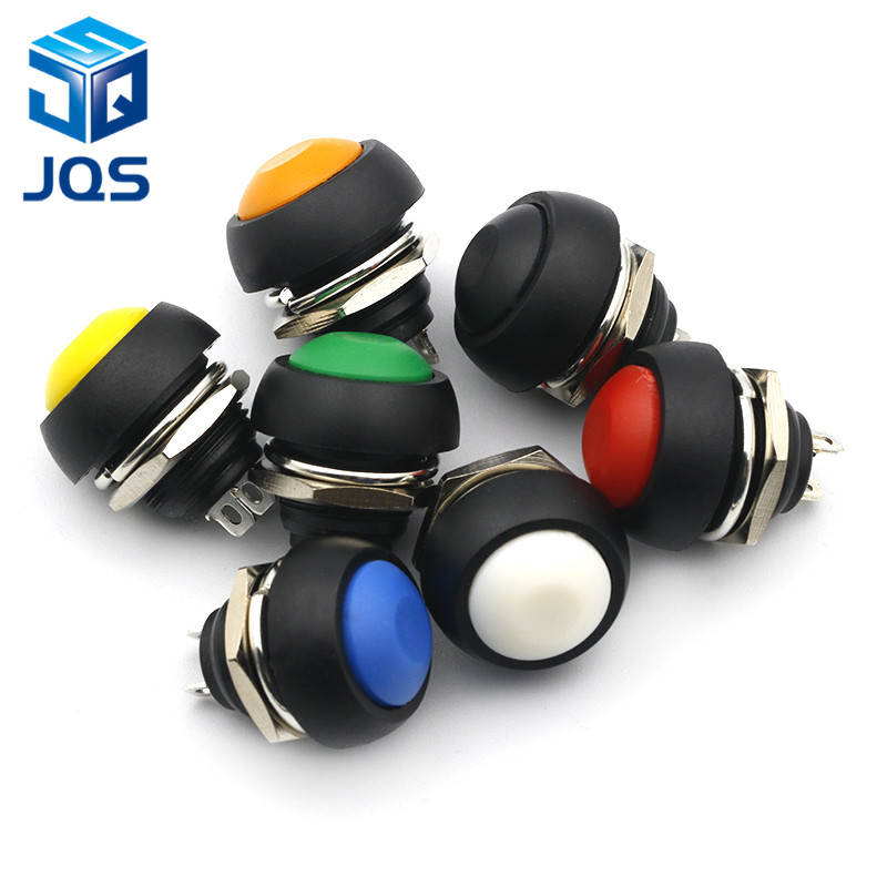 12mm PBS-33B Waterproof Momentary ON OFF Push Button Swithch Mini Round Switch