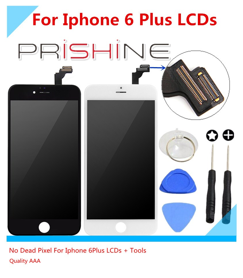 ФОТО 10PCS 5.5 inch Quality AAA Screen Pantalla For iPhone 6 Plus LCD ecran Touch Display Glass Digitizer Assembly (Black White)byDHL