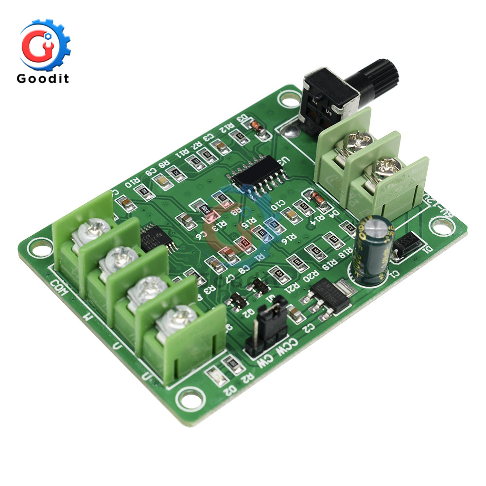 <font><b>5V</b></font> <font><b>12V</b></font> <font><b>DC</b></font> <font><b>Brushless</b></font> Motor <font><b>Driver</b></font> Controller <font><b>Board</b></font> w/ Reverse Voltage Over Current Protection for Hard <font><b>Driver</b></font> Controller 3/4 Wire image
