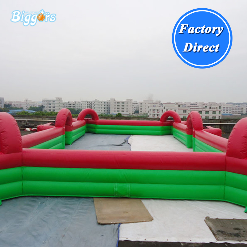 Inflatable Soccer Filed Inflatable Outdoor Football Pitch Inflatable Billiards field цена