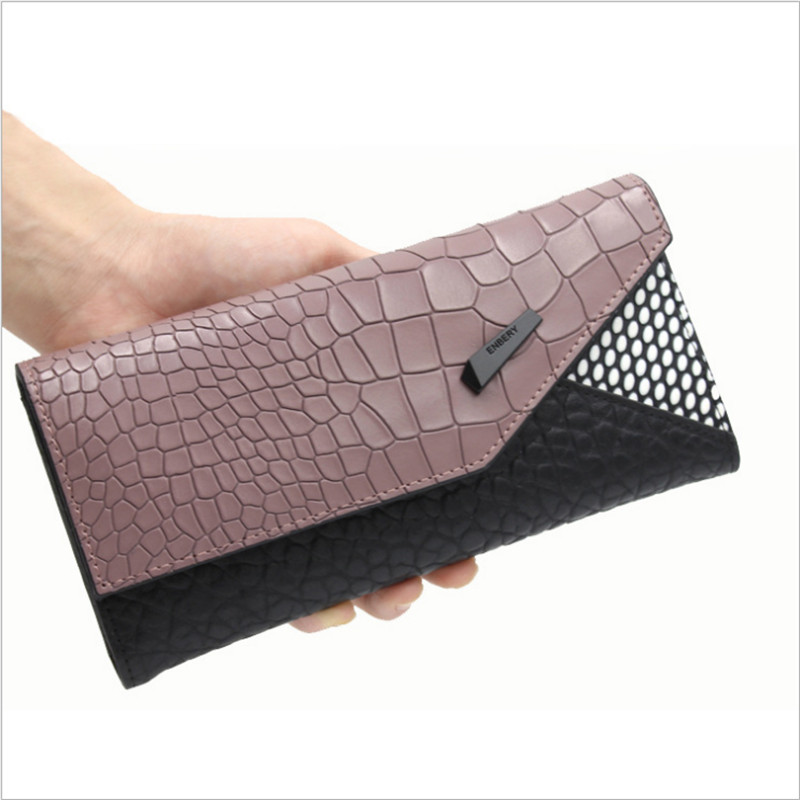 2016 New Fashion Lady Women Leather Clutch Long  Wallet   Card Holder Case Purse  Free Shipping  new arrive 1pc women lady faux leather clutch envelope wallet long card holder purse hollow hot