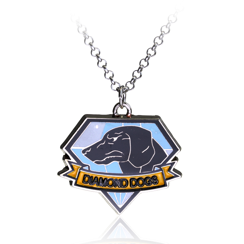 Metal Gear Solid 5 Necklaces & Pendants The Phantom Pain Dog Tag Necklace Dogs Fox Hound Pendant Necklace
