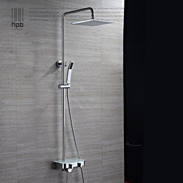 hpb latn mezclador para bao grifos con grifo de la ducha panel de bao torneira hp