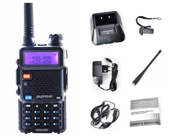 bilder für Baofeng uv-5r walkie talkie 5 watt dual-band-funkgeräte 128ch UHF VHF FM VOX Pofung UV5R ham radio Dual-Display kostenloser headset