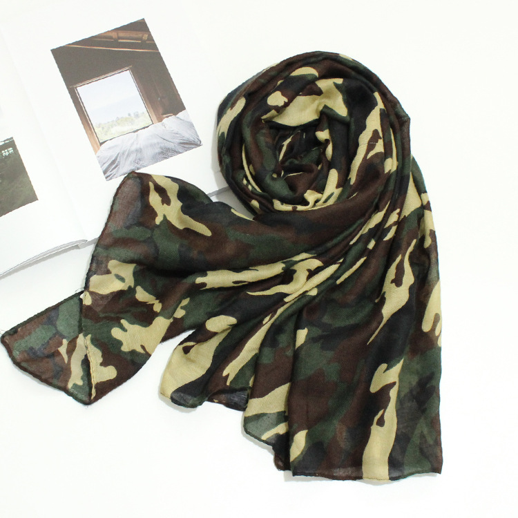 women camouflage   scarf   female autumn spring cool army green disruptive pattern head   scarf     wrap   shawl kerchief cloud