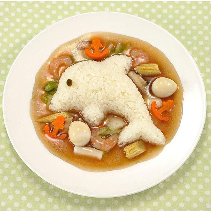 Vanzlife креативный милый кролик дельфины морские водоросли рисовая Коробка Форма Сделай Сам Вегетарианская форма детская еда бенто устройства для изготовления форм-3
