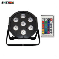 Wireless Remote Control 2015 7x 12W RGBW DMX Led Flat Par High Power Light With Professional