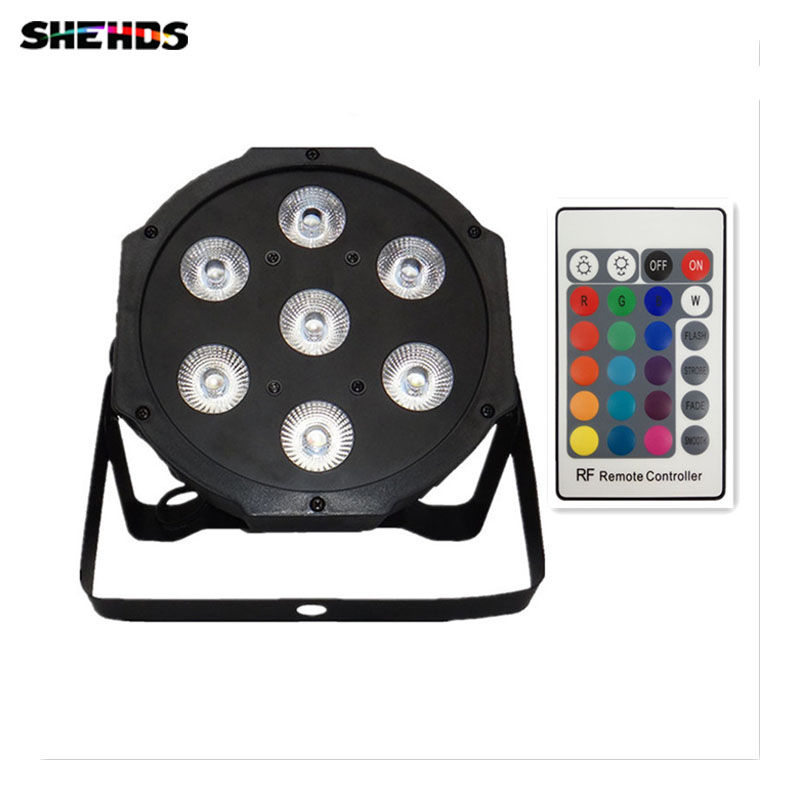Wireless remote control 2017 7x9W RGB DMX Led Flat Par High Power Light with Professional for Party KTV Disco DJ wireless remote control 2017 7x9w rgb dmx led flat par high power light with professional for party ktv disco dj