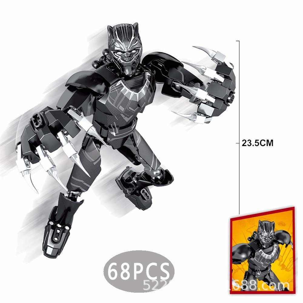 Superbohaterowie Legoing wojna w nieskończoności avengers rękawica nieskończoności Iron Man Thanos Thor zestawy klocków budowlanych figurki zabawki hobby