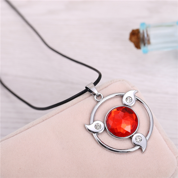 Naruto Round Shape Red Sharingan Hollow Pendant