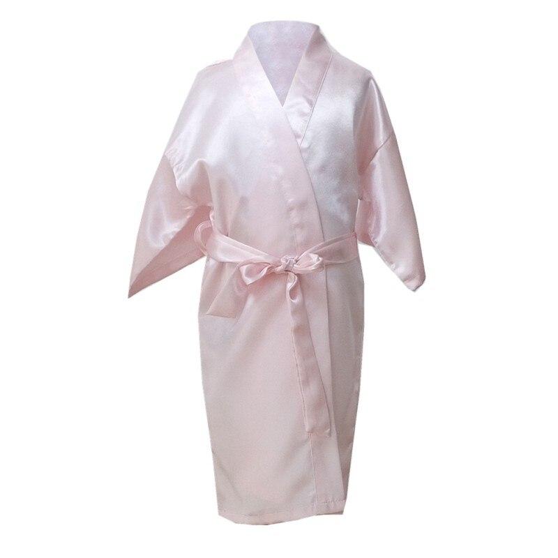 Treu Heißer Verkauf Kinder Robe Satin Kinder Sommer Kimono Bademäntel Brautjungfer Mädchen Kleid Seide Kind Bademantel Nachthemd Solide Roben