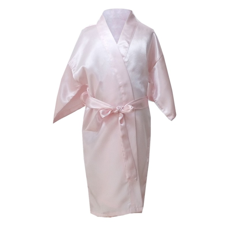 Hot Sale Kids Robe Satin Children Summer Kimono Bath Robes Bridesmaid Girl Dress Silk Child Bathrobe Nightgown Solid Robes цена 2017