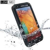 LOVE MEI Aluminum Metal Powerful Case For Samsung Galaxy Note 3 Waterproof Dirtproof Shockproof Phone Armor