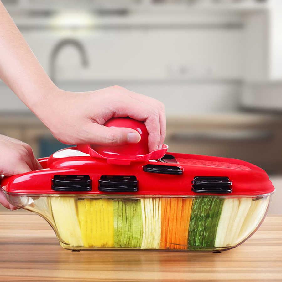 LIHUACHEN krajarka do warzyw z ostrze ze stali mandolina obierak do ziemniaków marchew tarka do sera krajalnica do warzyw akcesoria kuchenne