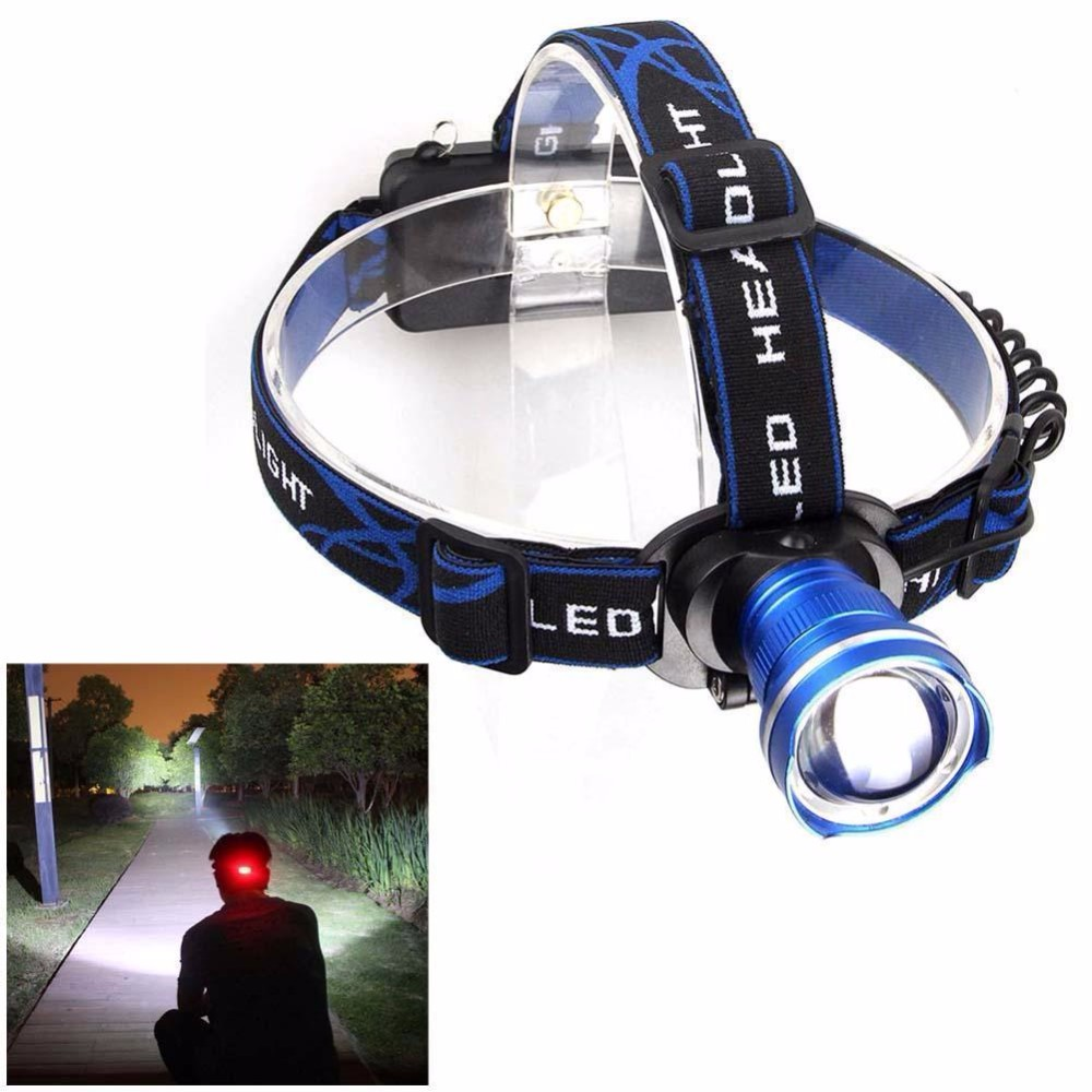 T6 LED Portable 3000 Lumens Zoomable XM L Head Torch Headlamp Headlight for camping hunting