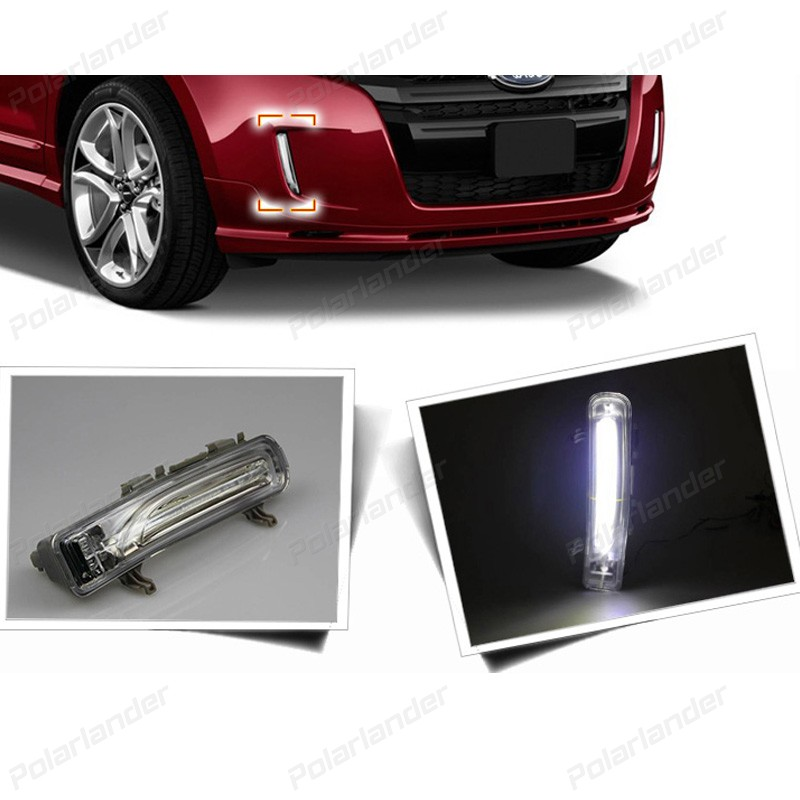 For F/ord e/dge 2011-2015 Car styling daytime running lights HOT 2 pcs daylight drl LED 2 pcs auto accessory drl for f ord k uga or e scape 2013 2015 car styling daytime running lights