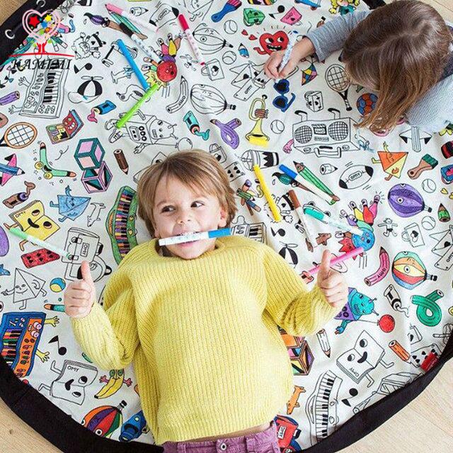 Baby DIY Graffiti Toy Storage blanket new baby Develop intelligence Blanket Game Playing Carpet Child Painting toy Birthday Gift