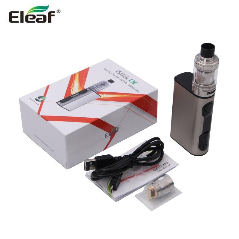 Original Eleaf iStick QC Kit 200W iStick QC Box Mod Vape and 3.5ML MELO 300 Tank Atomizer 5000mAh Battery E-Cigarettes испаритель eleaf erl head для melo rt25 melo 300 0 15 ом
