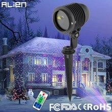ALIEN RGB Yıldız Açık Su Geçirmez noel lazer ışık Projektör Nokta Etkisi Bahçe Ev Xmas Ağacı Manzara Gösterisi Aydınlatma
