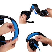 Headphone EACH G2000 Deep Bass Game Surrounded Over Ear Game Stereo Headsets With Mic And LED