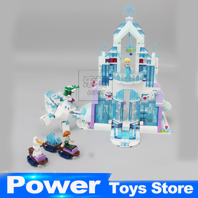 Model building kits compatible with lego city Elsa`s Magical Ice Castle 3D blocks Educational toys hobbies for children 25002 10551 elves ragana s magic shadow castle building blocks bricks toys for children toys compatible with lego gift kid set girls