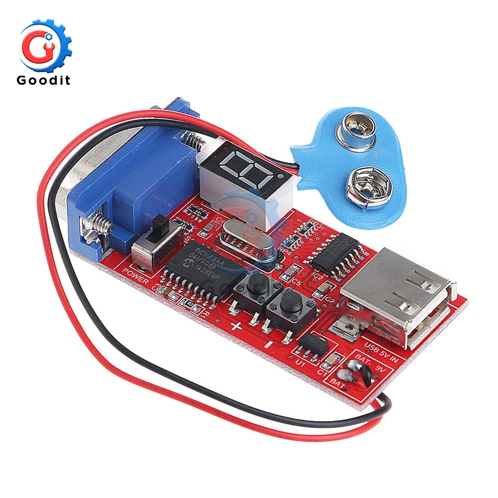 VGA Signal Generator LCD Tester 15 Signal Output USB Battery Dual Power Supply Module with 15 Different Signals