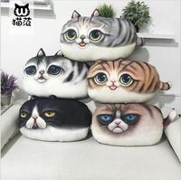 2016 New Arrival Cartoon Cat Animals Decorative Throw Pillows 3D Printed Cat Decor Cushion Cotton Cojines Home Cushions