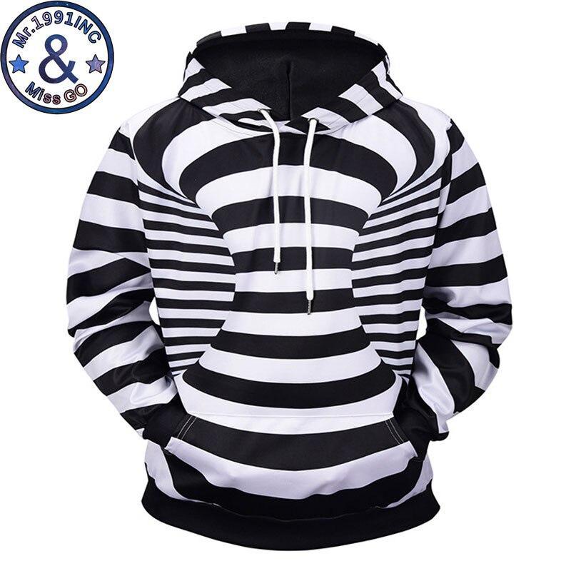 ainr Vortex 3D Printing Hoodies Casual Hooded Sweatshirt Streetwear Outwear