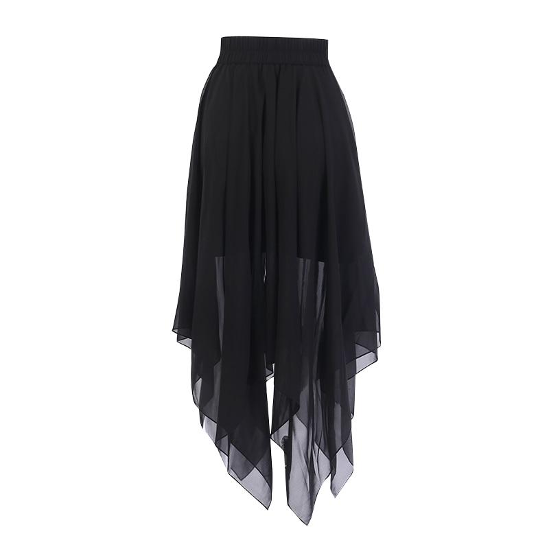 Harajuku Lolita Skirt with a Pentagram Zipper 1