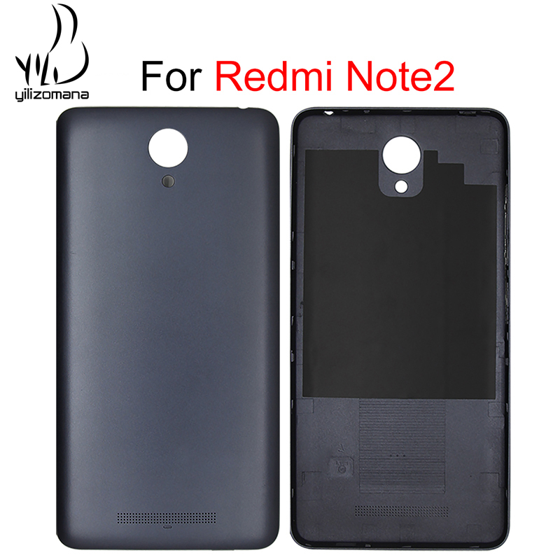 YILIZOMANA קשה מקרה מקורי נייד טלפון אחורי דלת מעטה החלפת סוללה חזרה כיסוי עבור Xiaomi Redmi הערה 2