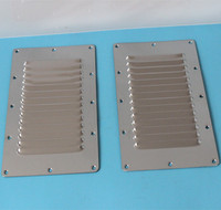 2 Pieces Stainless Steel Air Vent Grille Wall Ducting Cover Ventilation Louvre 5 9 Inches