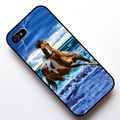 Cavalo correndo na praia da tampa do caso para apple iphone 4s 5 5s se 5c 6 6 s 6 mais 6 s plus