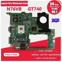 For ASUS N76VJ N76VB N76VZ N76VM N76V REV 2 0 Laptop Motherboard 4GB USB3 0 N14P
