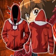 цена на Yu-Gi-Oh:Official Card Game Yuki Jaden Sweatshirts Hoodie Anime Jackets Man Women Top 3D Print Coat  Cosplay Costume
