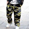 Carga Pantalones Sueltos Hombres de Camuflaje Harem Corredores Deporte Sudor Pantalones Hip Hop pantalones de Chándal de Baile Pantalones 3xl