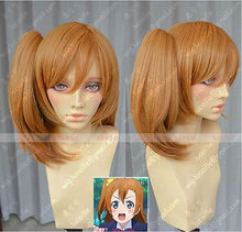 Wholesale price Hot Sell! TSC^^^^  Kousaka Honoka Wig Love Live! Cosplay orange brown wig ponytail