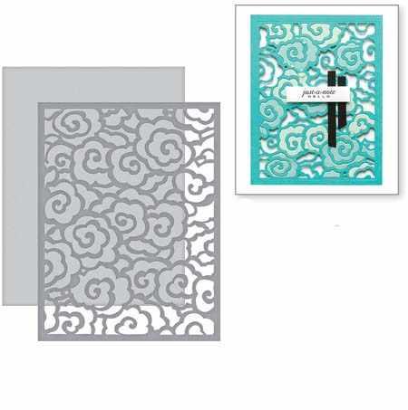 Swovo Swirl облачный фон рамка металлические режущие штампы для скрапбукинга DIY ремесло изготовление бумажных карточек декоративный шаблон тиснения