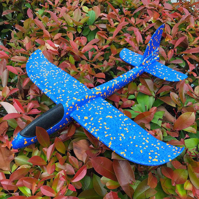 48 เซนติเมตรมือโยนบินเครื่องร่อนเครื่องบิน Aircraft Inertial Foam Glider เครื่องบินของเล่นเครื่องบินของเล่นเด็กเครื่องบินรุ่น out ประตู
