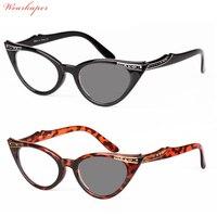 1bd2dc6c153 WEARKAPER Cat Eye Glasses Sunglasses Photochromic Reading Glasses Women  Hyperopia Presbyopia diopters Outdoor Presbyopia Glasses