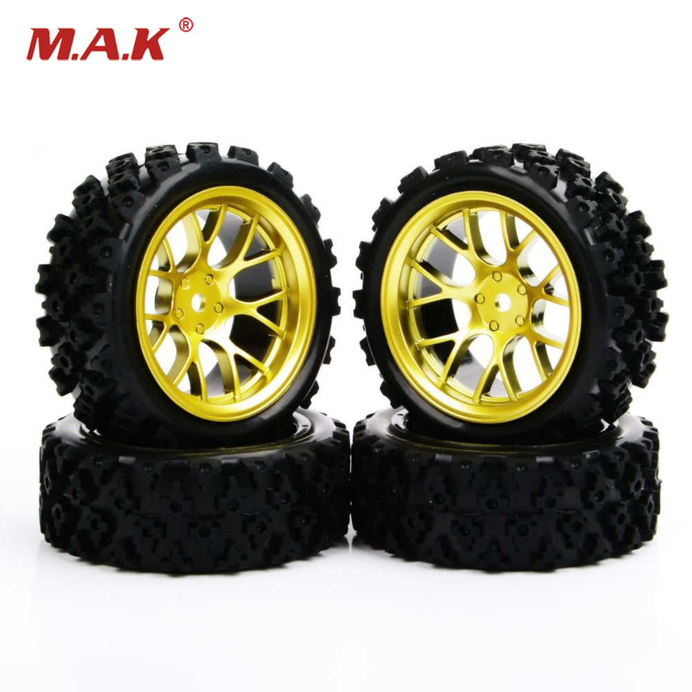 12 mm Hex 4Pcs Rubber Tyre Wheel for toys RC 1:10 Rally Racing Off Road For HSP HPI RC Car 4pcs set 12mm hex rubber tires tyre wheel rim for hsp rc 1 10 flat racing on road car pp0150 6rg toys vehicles accessories