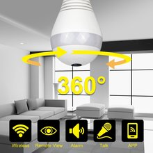 960P 360 degree Wireless IP Camera Bulb Light FishEye Smart Home CCTV 3D VR Camera 1.3MP Home Security WiFi Camera Panoramic