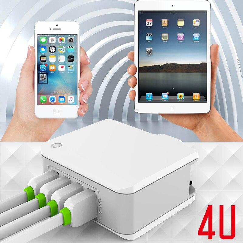 INGMAYA Resladdare USB 4-portar 22W Power 2.4A Charge För iPhone 5S - Reservdelar och tillbehör för mobiltelefoner - Foto 6