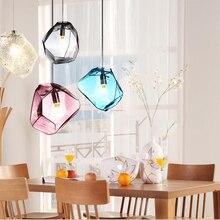 Girban, современный светодиодный светильник, разноцветный, для столовой, ресторана, Витражная лампа, подвесные лампы